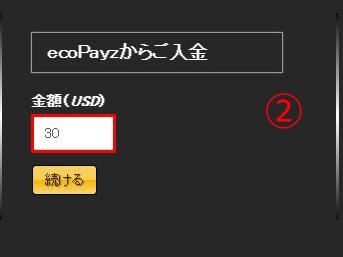 エコペイズ_2-入金額を入力する